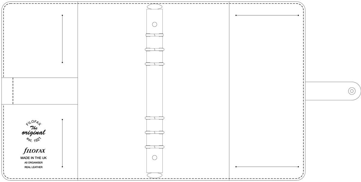 Filofax Original A5 belső vázlat